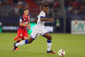Allan Saint Maximin of Bastia during the French Ligue 1 match between SM Caen an Bastia at Stade Michel D'Ornano on August 27, 2016 in Caen, France. (Photo by Vincent Michel/Icon Sport) (Photo by Vincent Michel/Icon Sport via Getty Images)